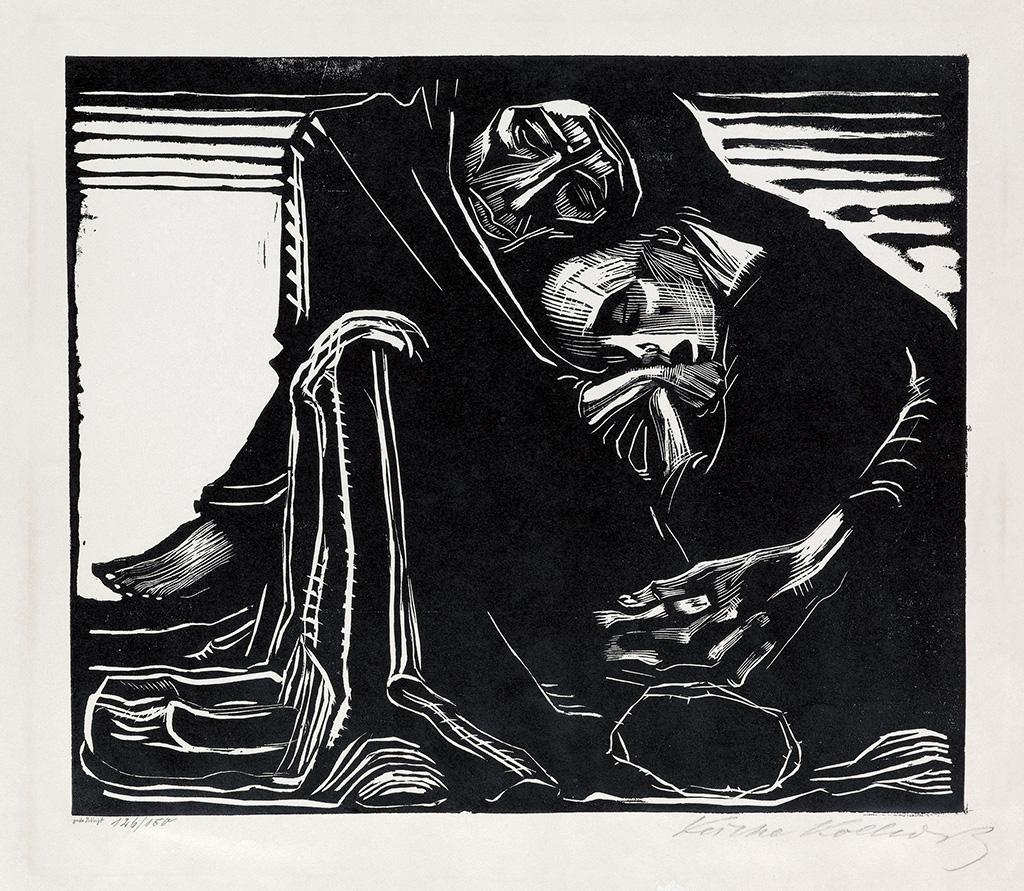"Käthe Kollwitz, ""Tod mit Frau im-Schoss"" 1921."