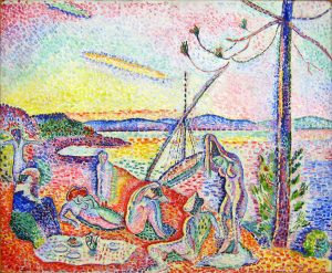Henri Matisse's Luxe, calme et voluptÈ (Luxury, Calm and Pleasure) was painted in the summer of 1904 at Paul Signac. The MusÈe d'Orsay (The Orsay Museum), housed in the former railway station, the Gare d'Orsay, holds mainly French art dating from 1848 to 1914, including paintings, sculptures, furniture, and photography, and is probably best known for its extensive collection of impressionist masterpieces by popular painters such as Monet and Renoir. Many of these works were held at the Galerie nationale du Jeu de Paume prior to the museum's opening in 1986.