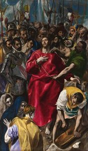 """El Greco, """"El expolio"""", óleo, 1579"""