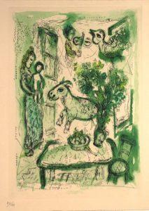 "Marc Chagall, ""Pour Franz Meyer"", aiguafort i aiguatinta, 1962"