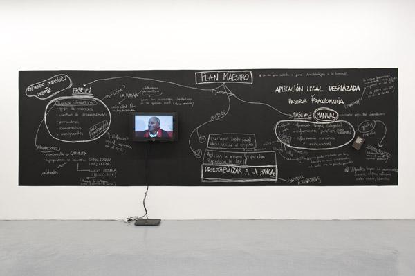 "Núria Güell, ""Displaced Legal Application #1: Fractional Reserve,"" Barcelona, 2010-2011"
