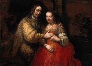 "Rembrandt's masterpiece ""The Jewish Bride"", circa 1665. Photograph: Rijksmuseum Amsterdam"