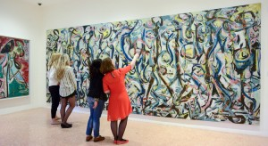 "Jackson Pollock's ""Mural"" on display at the Peggy Guggenheim Collection in Venice. Credit Casey Kelbaugh for The New York Times"
