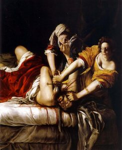 "Artemisia Gentileschi, ""Judith and Holofernes"", 1620-21, oil on canvas"