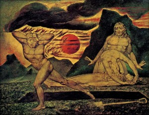 """William Blake, """"The Body of Abel Found by Adam and Eve"""" (c. 1826)"""