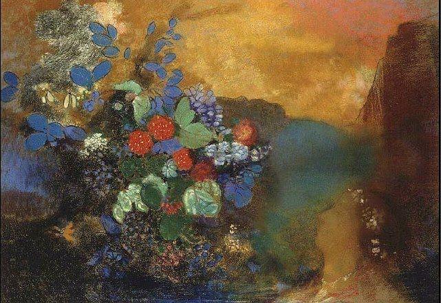 """Odilon Redon, """"Ophélia entre les fleurs"""" , 1905"""