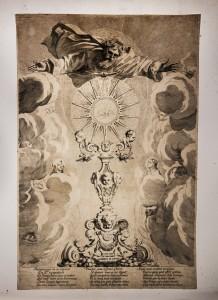 """Claude Mellan, """"Adorons le Saint-Sacrement de l'autel"""", burin, 1643"""