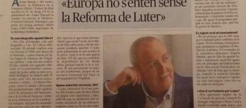 "Menorca  Joan Mascaró:  ""Europa no s'entén sense la Reforma de Luter"""