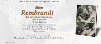 """Presentacions del llibre """"Mirar Rembrandt"""""""