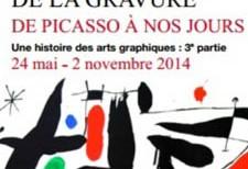 """Catalogue exhibition """"La permanence de la gravure: de Picasso à nos jours"""""""